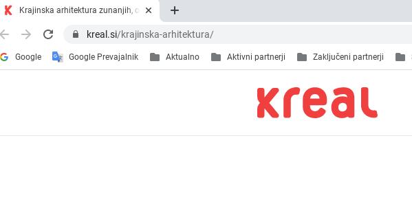optimizacija za iskalnike url naslov